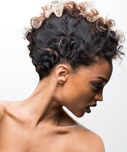 Hidden And Revealed Cornrows Catwalk Hairstyle