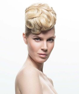 Net Sculptured Updo Hairstyle