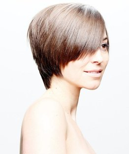 Round Textured Layered Haircut