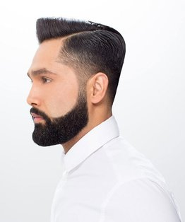 Men's Parting With A Razor Haircut