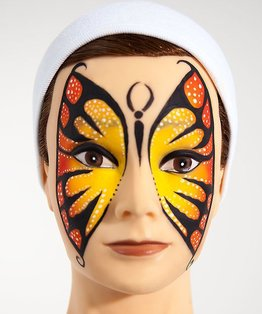 A themed tutorial on a butterfly face-paint look