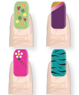 Video tutorial on nail art techniques for a fashion statement