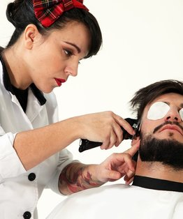Partial Beard & Moustache – Barbering Tutorial by New York Barbershop & MK