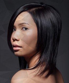 A-line Concave Shape on Long Hair