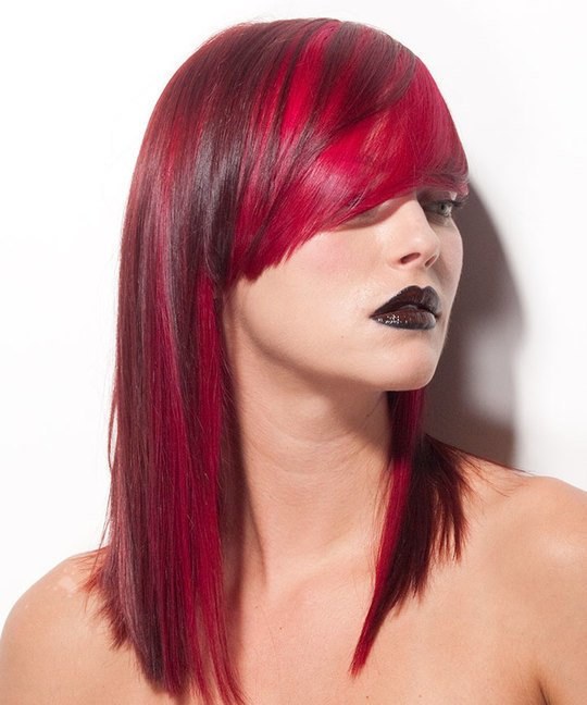 Long Layer Variation With A-Line Outline And Lip-Line Fringe