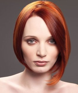 Two Tiered Layered Round Disconnected Bob Haircut