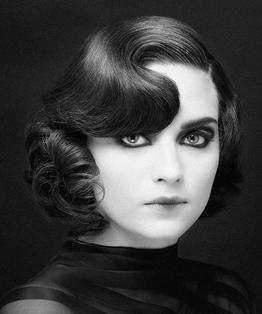 Reverse Pin Curls Hairstyle