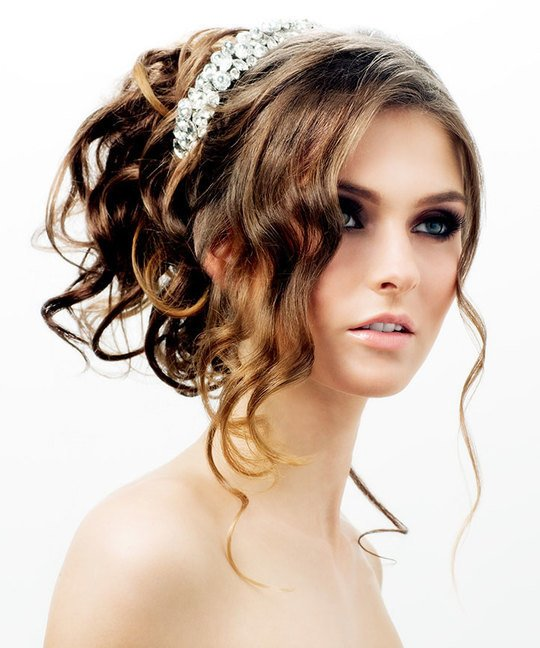 Soft Curls Updo Hairstyle