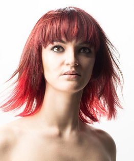 Red Multi Tonal Dip Dye