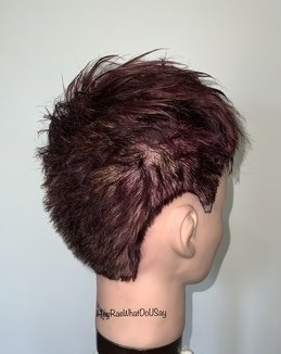 Short, Textured Crop Hairstyle With Long Fringe Tutorial