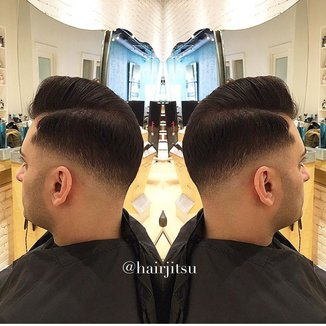 Men's Parting With A Razor Haircut Tutorial Video