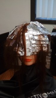 Half-Head Foil Highlighting Technique With Colour Balancing